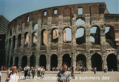 Rome - the colosseum on a summer's day
